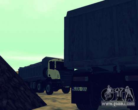 Scania P420 8X4 Dump Truck for GTA San Andreas engine