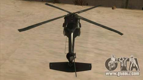 Sikorsky UH-60L Black Hawk Mexican Air Force for GTA San Andreas inner view