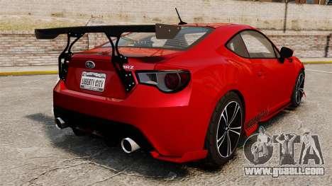 Subaru BRZ Rocket Bunny Aero Kit Hoonigan for GTA 4 back left view