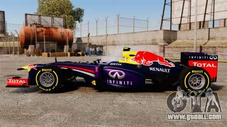 Car, Red Bull RB9 v5 for GTA 4 left view