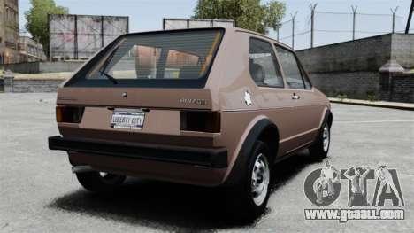 Volkswagen Golf MK1 GTI for GTA 4 back left view