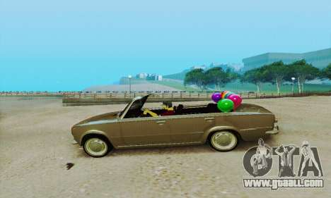 VAZ 2101 Convertible for GTA San Andreas back left view