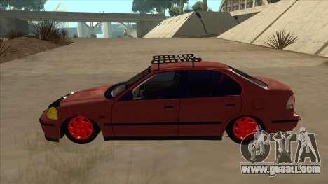 Honda Civic V2 BKModifiye for GTA San Andreas back left view