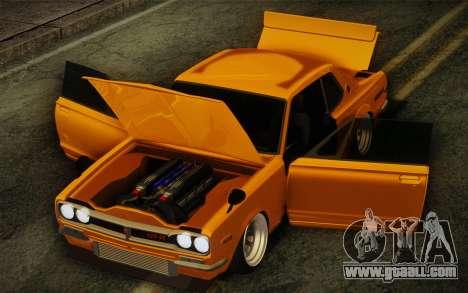 Nissan Skyline 2000GT-R Hoon for GTA San Andreas inner view