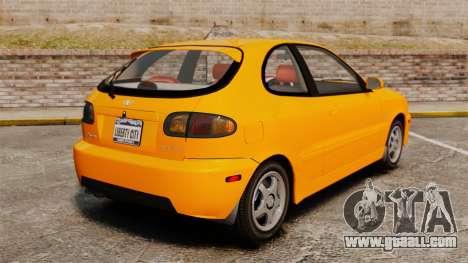 Daewoo Lanos Sport US 2001 for GTA 4 back left view