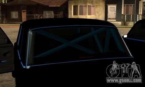 VAZ 2107 for GTA San Andreas upper view