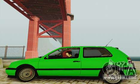 Volkswagen Golf Mk3 GTi 1997 for GTA San Andreas back left view