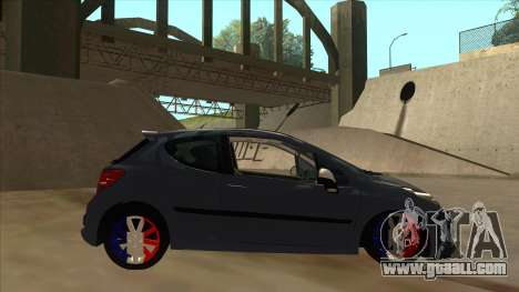 Peugeot 207 RC for GTA San Andreas back left view