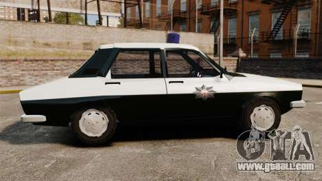 Renault 12 Classic 1980 Turkish Police for GTA 4 left view