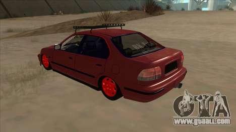 Honda Civic V2 BKModifiye for GTA San Andreas back view