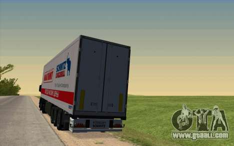 Trailer For MAN TGX for GTA San Andreas back left view