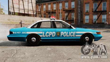 LCPD Police Cruiser for GTA 4 left view