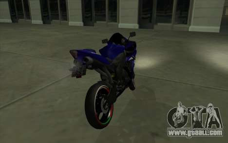 Yamaha R1 for GTA San Andreas back left view