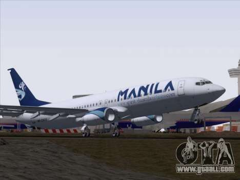 Boeing 737-800 Spirit of Manila Airlines for GTA San Andreas side view