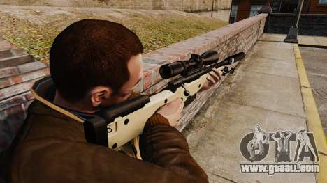 AW L115A1 sniper rifle with a silencer v2 for GTA 4 second screenshot