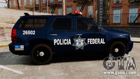 Chevrolet Tahoe 2007 De La Policia Federal [ELS] for GTA 4 left view