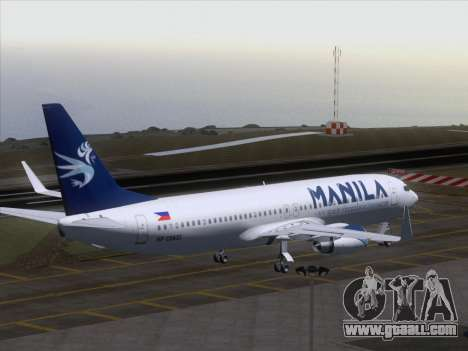 Boeing 737-800 Spirit of Manila Airlines for GTA San Andreas bottom view