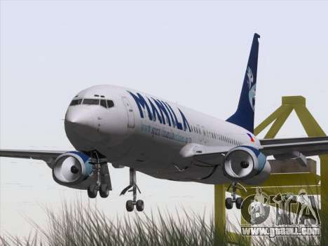 Boeing 737-800 Spirit of Manila Airlines for GTA San Andreas back view