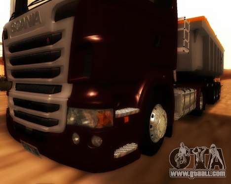 Scania R440 for GTA San Andreas inner view