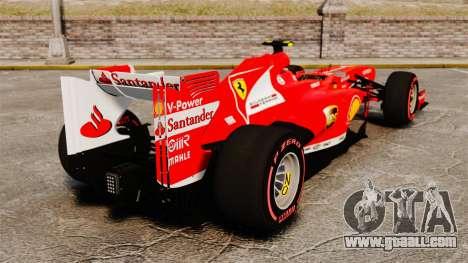 Ferrari F138 2013 v6 for GTA 4 back left view