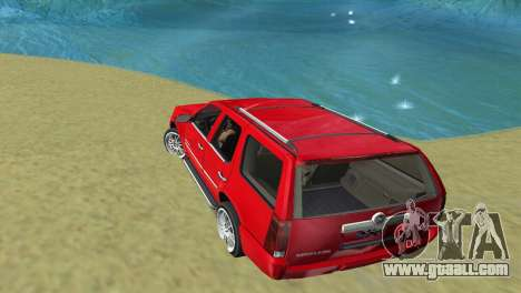 Cadillac Escalade for GTA Vice City right view