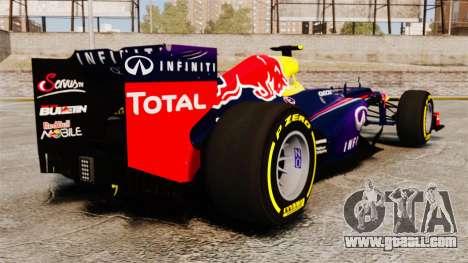 Car, Red Bull RB9 v5 for GTA 4 back left view
