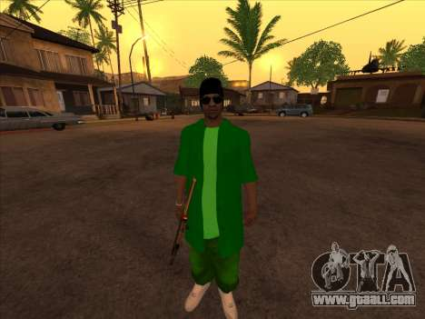 New skin Groove st. for GTA San Andreas third screenshot