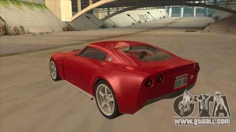 Melling Hellcat Custom for GTA San Andreas back view