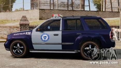 Chevrolet Trailblazer 2002 Massachusetts Police for GTA 4 left view