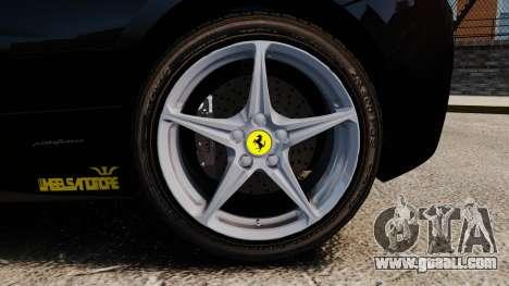 Ferrari 458 Italia 2010 Wheelsandmore 2013 for GTA 4 side view