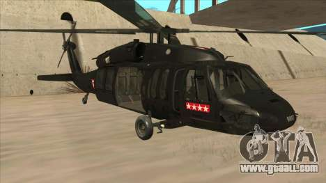 Sikorsky UH-60L Black Hawk Mexican Air Force for GTA San Andreas left view
