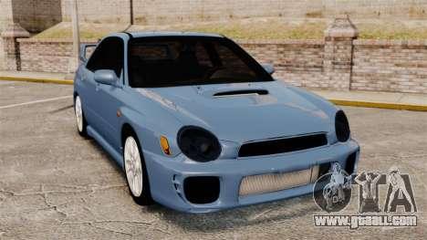 Subaru Impreza WRX 2001 for GTA 4