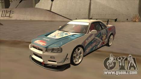 Nissan Skyline R34 Itasha for GTA San Andreas