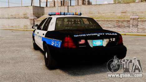 Ford Crown Victoria Police Massachusetts ELS for GTA 4 back left view