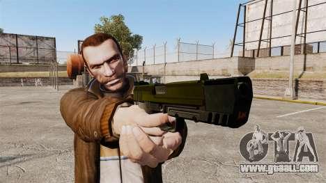 Self-loading pistol USP H&K v5 for GTA 4 third screenshot