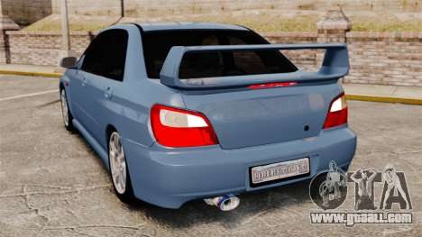 Subaru Impreza WRX 2001 for GTA 4 back left view