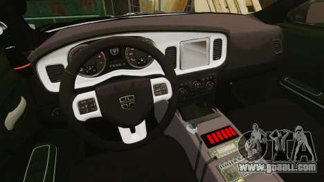 Dodge Charger Pursuit 2012 [ELS] for GTA 4 back view