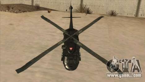 Sikorsky UH-60L Black Hawk Mexican Air Force for GTA San Andreas side view