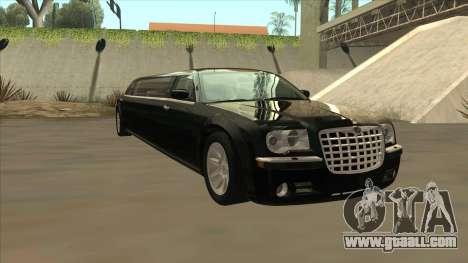 Chrysler 300C Limo 2006 for GTA San Andreas back view