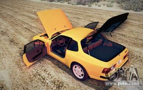 Porsche 944 Turbo Coupe 1985 for GTA San Andreas upper view