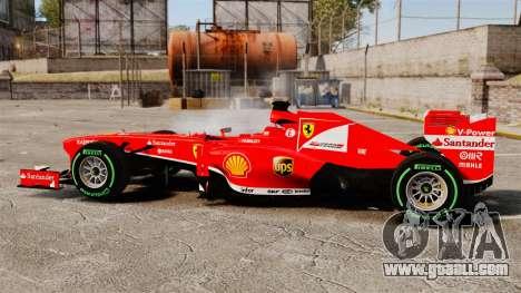 Ferrari F138 2013 v3 for GTA 4 left view