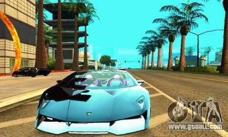 Lamborghini Sesto Elemento for GTA San Andreas left view