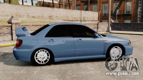 Subaru Impreza WRX 2001 for GTA 4 left view