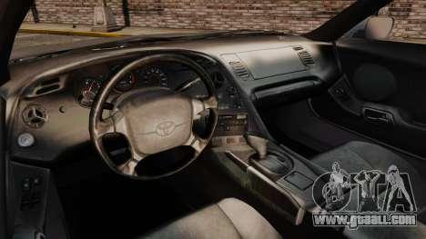 Toyota Supra MKIV 1995 v3.5 for GTA 4 back view