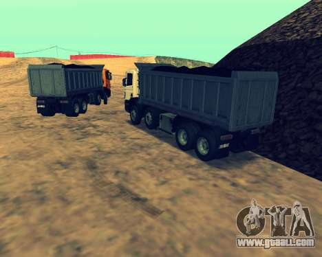 Scania P420 8X4 Dump Truck for GTA San Andreas side view
