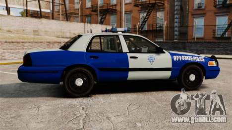 Ford Crown Victoria Police Massachusetts ELS for GTA 4 left view