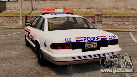 The Royal Canadian Mounted Police for GTA 4 back left view