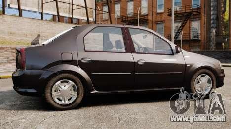 Dacia Logan 2008 v2.0 for GTA 4 left view