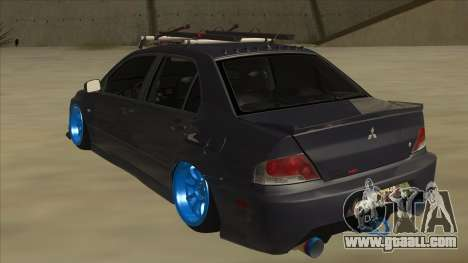 Mitsubishi Evo VIII MR JDM for GTA San Andreas back view