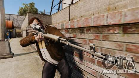 Dragunov sniper rifle v1 for GTA 4 third screenshot